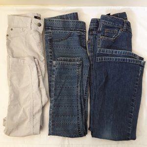 4/20$Girl denim pants geometric skinny flare jeans